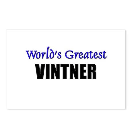 Worlds Greatest VINTNER Postcards (Package of 8)