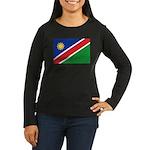Namibia Flag Women's Long Sleeve Dark T-Shirt