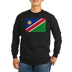 Namibia Flag Long Sleeve Dark T-Shirt
