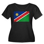 Namibia Flag Women's Plus Size Scoop Neck Dark T-S