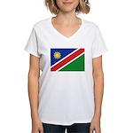 Namibia Flag Women's V-Neck T-Shirt
