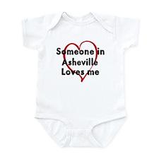 Loves me: Asheville Onesie