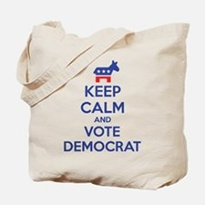 Keep calm and vote democrat Tote Bag