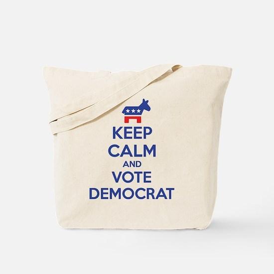 Keep calm and vote democrat Tote Bag