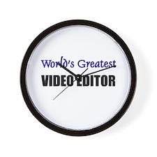 Worlds Greatest VIDEO EDITOR Wall Clock
