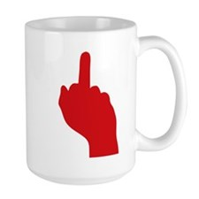 middle finger Mugs