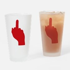 middle finger Drinking Glass