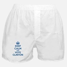 Keep calm and vote Clinton Boxer Shorts