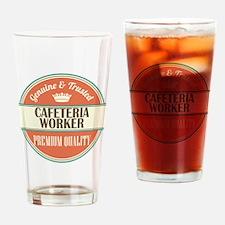 cafeteria worker vintage logo Drinking Glass