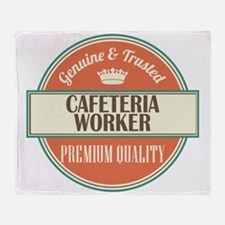 cafeteria worker vintage logo Throw Blanket