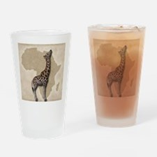 Out of Africa Giraffe Drinking Glass