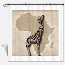 Out of Africa Giraffe Shower Curtain
