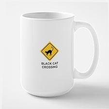 HALLOWEEN BLACK CAT CROSSING Mug