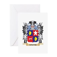 Stefan Coat of Arms - Family Crest Greeting Cards