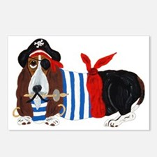 Basset Hound Pirate Postcards (package Of 8)