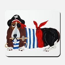 Basset Hound Pirate Mousepad
