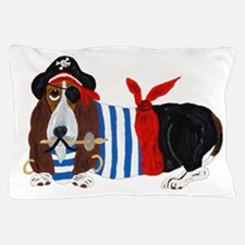 Basset Hound Pirate Pillow Case