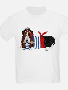 Basset Hound Pirate T-Shirt