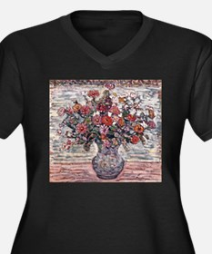 Zinnias by Prendergast Plus Size T-Shirt
