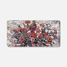 Zinnias by Prendergast Aluminum License Plate