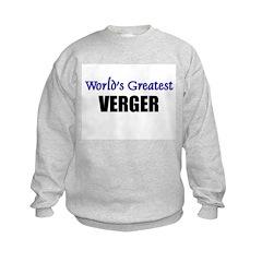 Worlds Greatest VERGER Sweatshirt