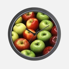 Various Types of Apples Wall Clock