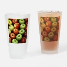 Various Types of Apples Drinking Glass