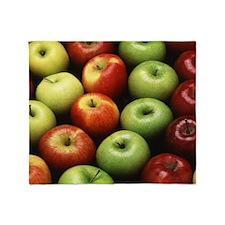 Various Types of Apples Throw Blanket