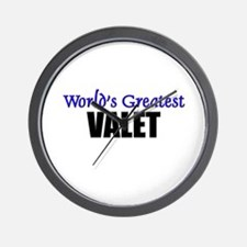Worlds Greatest VALET Wall Clock