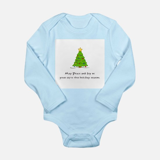 Peace Joy Christmas Tree Gifts Body Suit