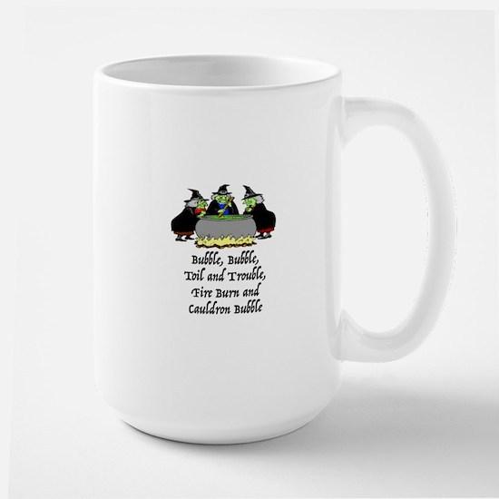 HALLOWEEN - BUBBLE BUBBLE TOIL AND TROU Large Mug