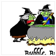 HALLOWEEN - BUBBLE BUBBLE TOIL AND TROUBLE Poster