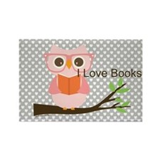Cute Owl Reading Magnets