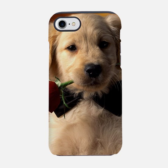 Cute Puppy With Rose iPhone 8/7 Tough Case