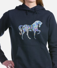 Cool Colorful Horse Women's Hooded Sweatshirt