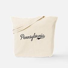 Pennsylvania Script Black Tote Bag