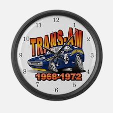 Mark Donohue Trans Am Camaro Large Wall Clock