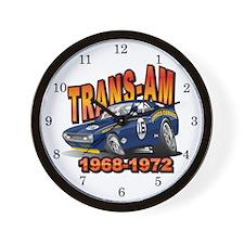 Mark Donohue Trans Am Camaro Wall Clock