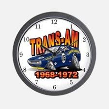 Mark Donohue Trans Am Camaro Wall Clock