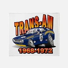 Mark Donohue Trans Am Camaro Throw Blanket