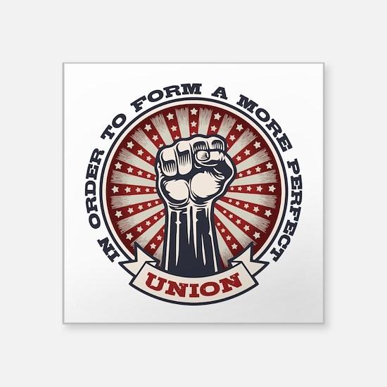 """A More Perfect Union Square Sticker 3"""" x 3"""""""
