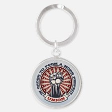 A More Perfect Union Round Keychain