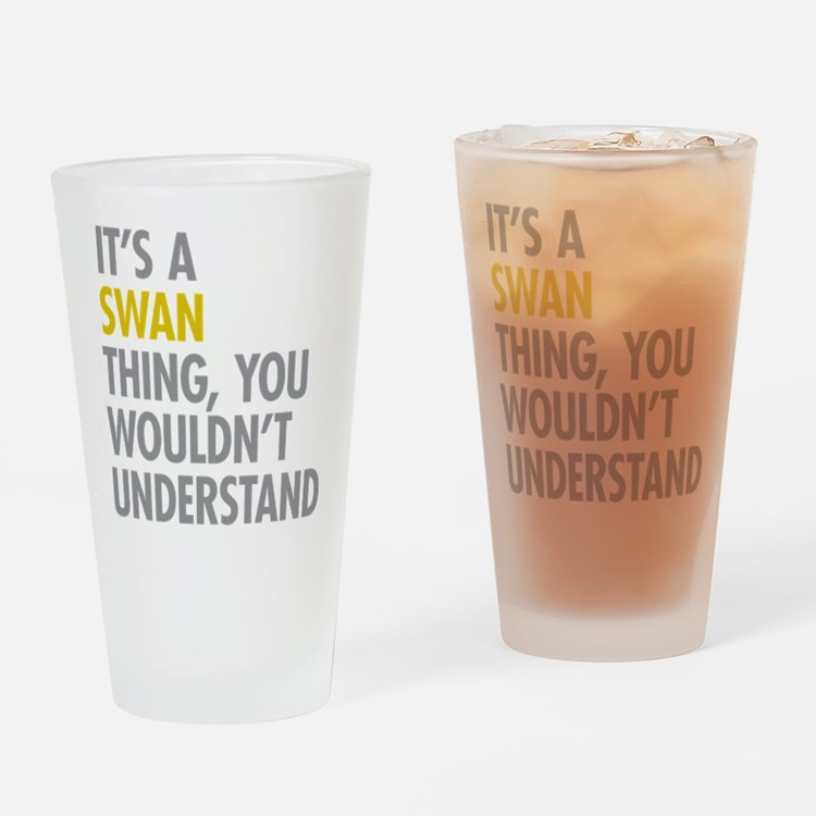 Swan Thing Drinking Glass