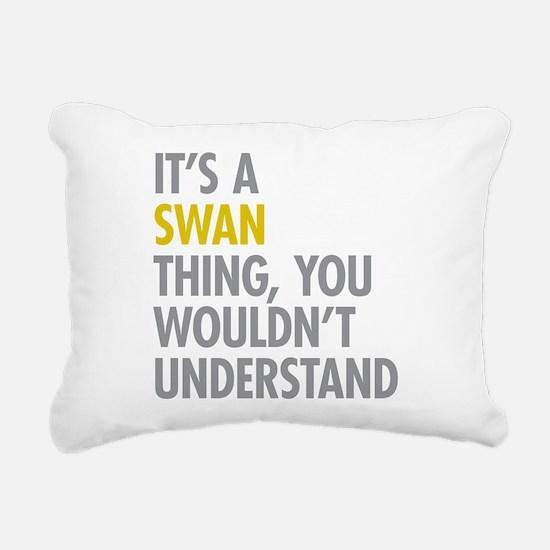 Swan Thing Rectangular Canvas Pillow