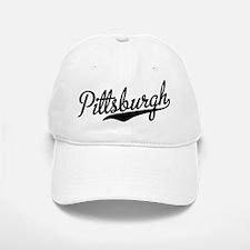 Pittsburgh Script Font Baseball Baseball Cap