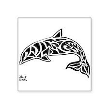 "Funny Manatee mermaid designs Square Sticker 3"" x 3"""