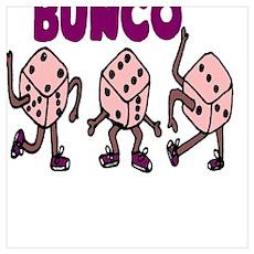 Dancing Bunco Dice Poster