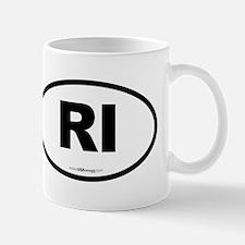 Rhode Island RI Euro Oval Mug