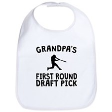 Grandpas First Round Draft Pick Baseball Bib