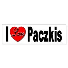 I Love Paczkis Bumper Sticker for Paczkis Lovers